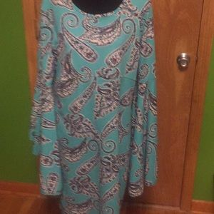 Cato bell sleeved paisley dress